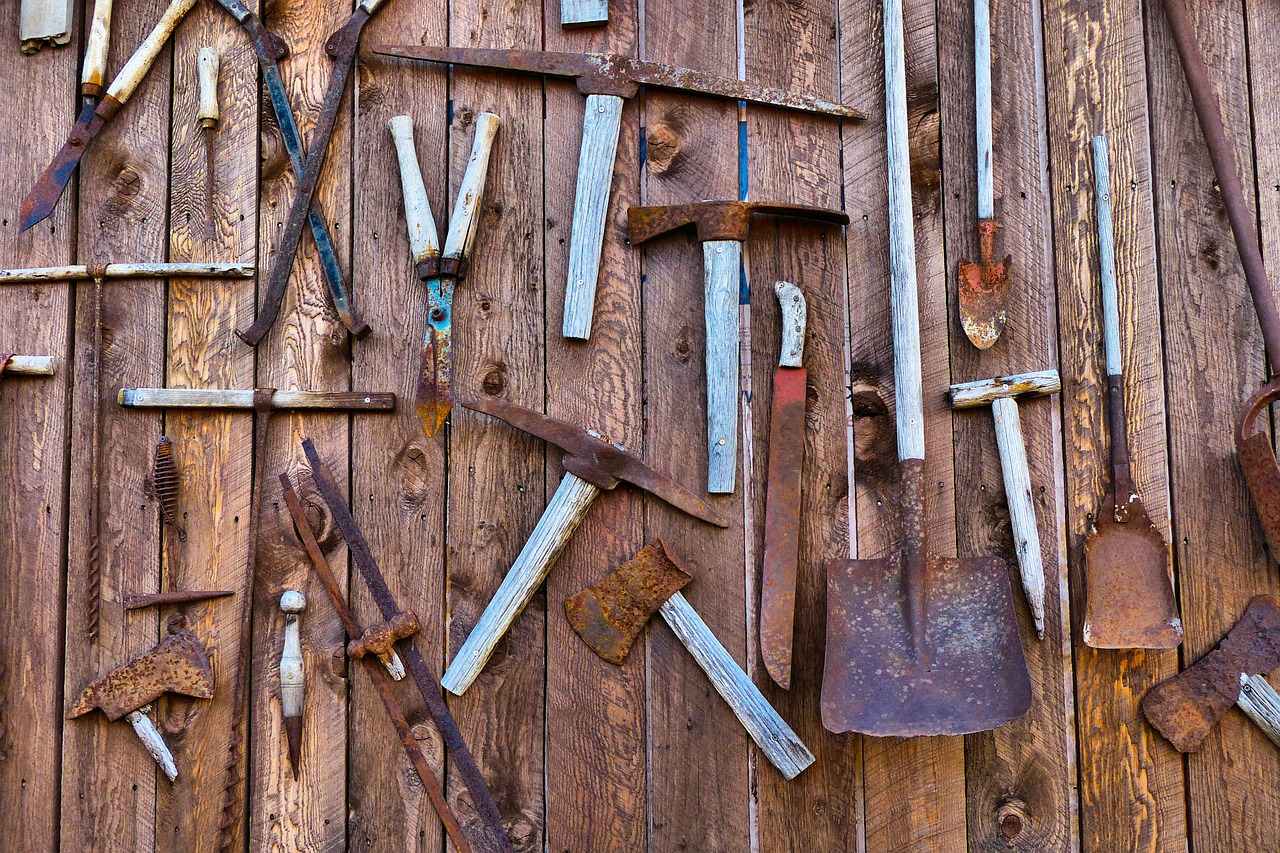 Outdoor Wall of Rusted Tools